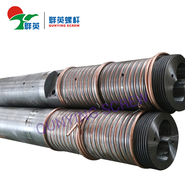 Bimetallic Plastic Extruder Twin Parallel Screw Barrel