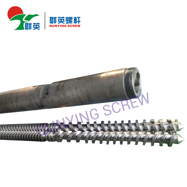 What are the characteristics of the conical twin-screw extruder?