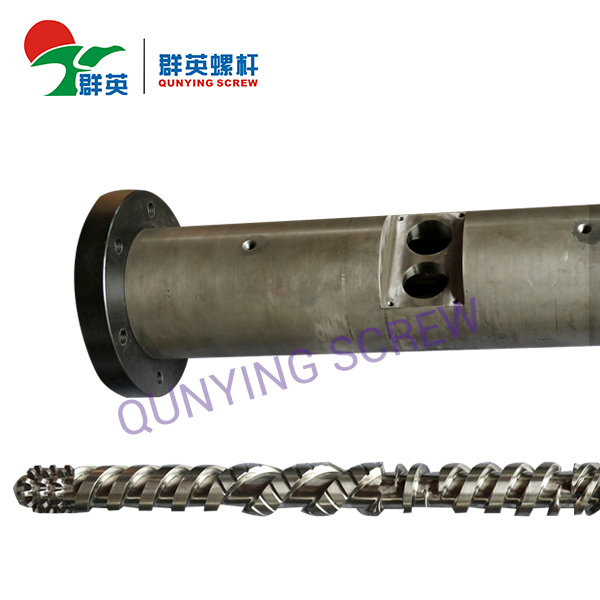 What are the structural characteristics of the twin-screw extruder