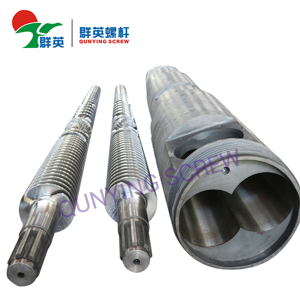 Nitrided Conical Twin Screw Barrel With Accessories