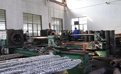 Conical screw barrel machine equipment