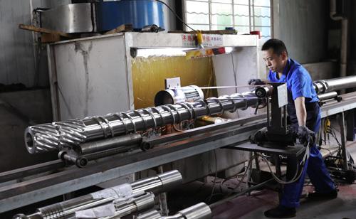 Screw barrel machine equipment